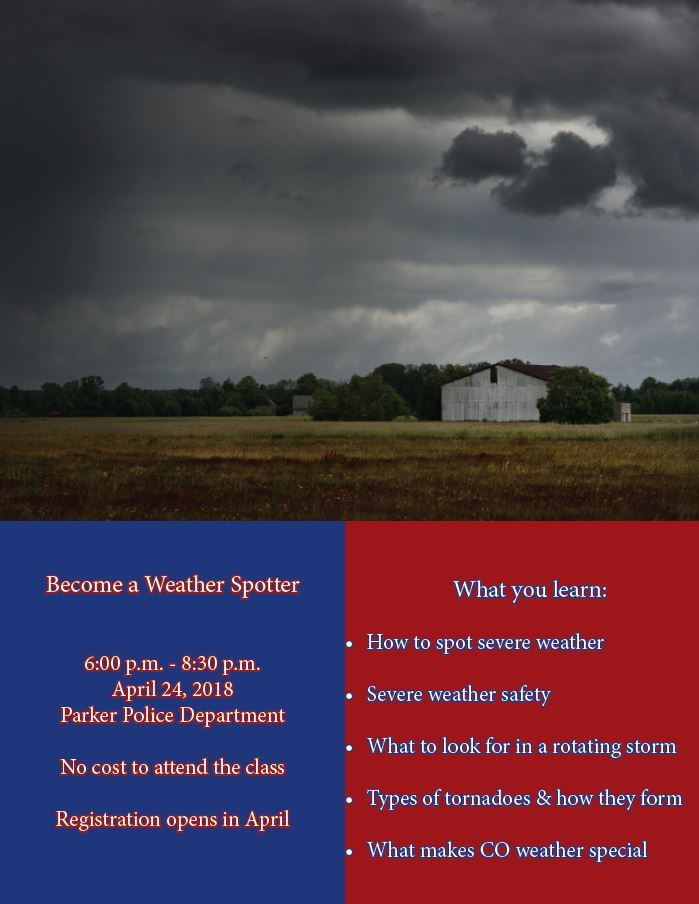 Parker Co Weather >> Parker Police Official Website