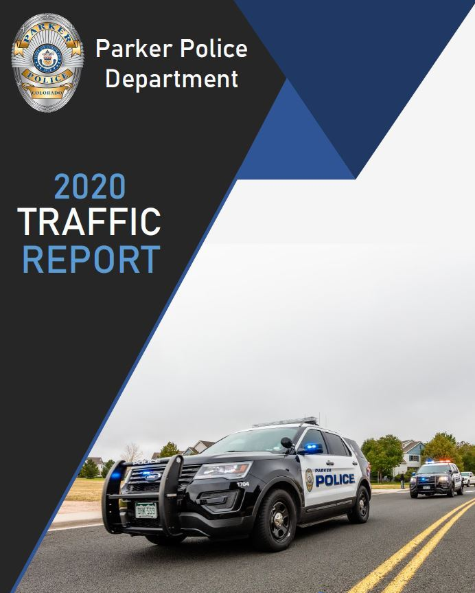 Cover of Traffic report with a patrol vehicle
